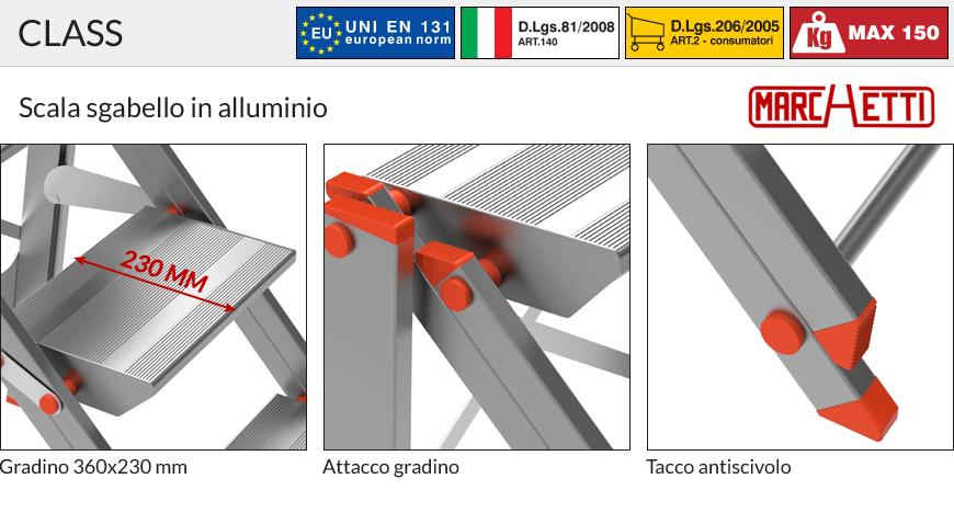 Scala Sgabello CLASS PIÙ Marchetti